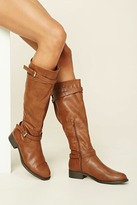 Forever 21 FOREVER 21+ Faux Leather Tall Boots