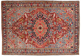 "One Kings Lane Vintage Antique Persian Heriz Rug - 6'7"" x 9'5"" - Apadana - red/blue"