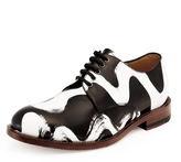 Vivienne Westwood 's Squiggle Utility Lace Up Shoes - Black/White UK 6