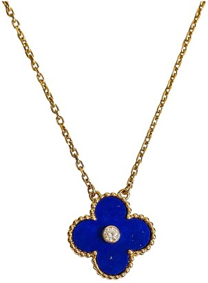 Van Cleef & Arpels Alhambra Blue Yellow gold Necklaces