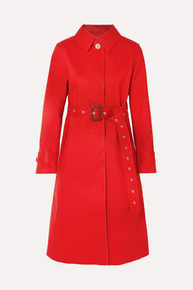 MACKINTOSH Bonded Cotton Trench Coat - Red