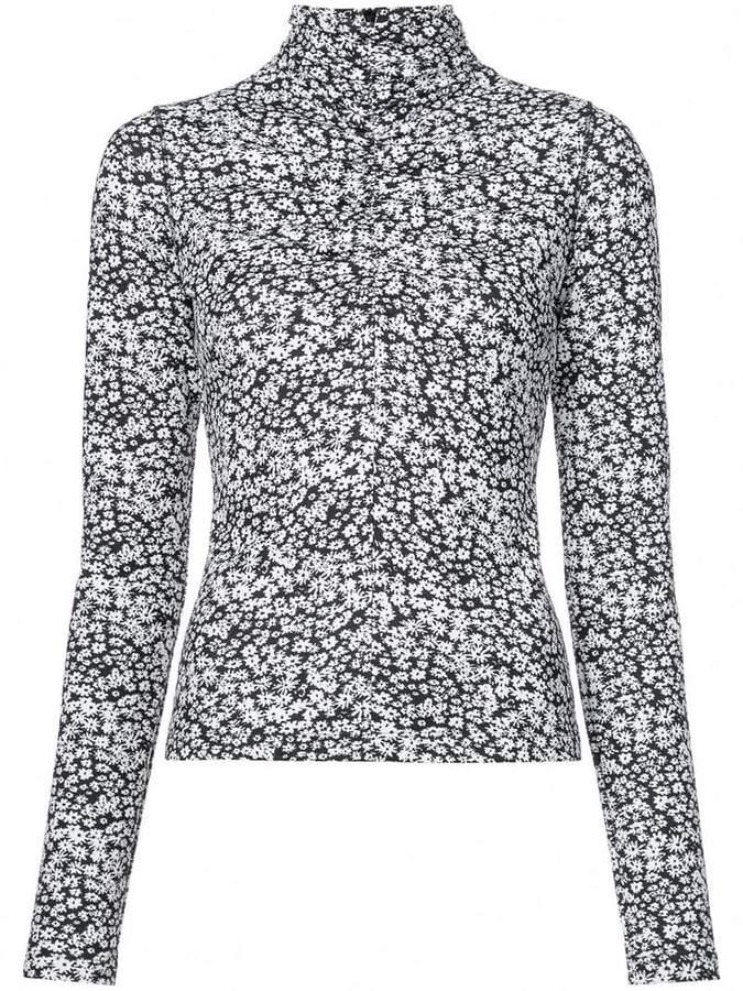 Cédric Charlier long-sleeve floral top