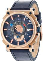 Police Men's Watch COMPASS PL.15048JSR/03 Leather Strap Rose Gold
