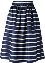 Polo Ralph Lauren gathered striped skirt - women - Silk/Cotton - 2