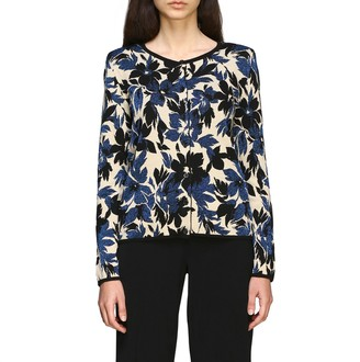 Boutique Moschino Sweater Cardigan With Lurex Flowers