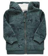 F&F Woodland Print Fleece Lined Hoodie, Newborn Boy's