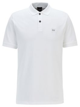 Slim-fit polo shirt in washed cotton piqu
