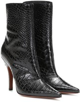 Vetements Party croc-effect leather ankle boots