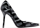 Vetements Black and White STAR WARS Edition All Over Logo Heels