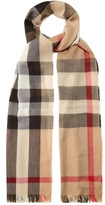 Burberry House-check cashmere-blend scarf