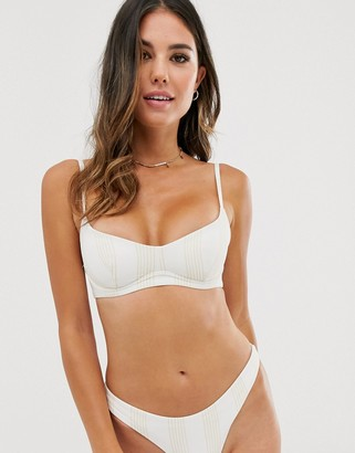 Zulu & Zephyr wired bikini top in stripe