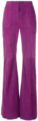 Eva Chamois Flared Trousers