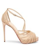 Christian Louboutin Filamenta Peep-Toe Leather Sandals