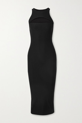 Alix Nostrand Cutout Stretch-jersey Midi Dress - Black
