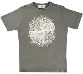 Stone Island Short Sleeve T Shirt With Mud Logo Print