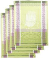 Garnier Thiebaut Blanches Les Asperges Kitchen Towels (Set of 4)