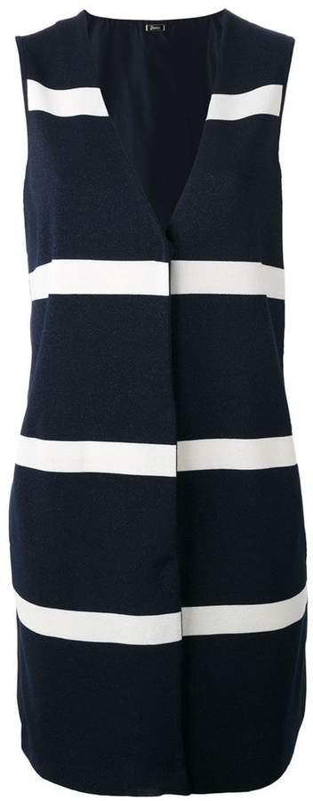 Herno stripe panel sleeveless jacket