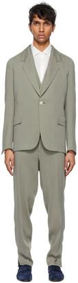 Ermenegildo Zegna Couture Grey Viscose Three-Piece Suit