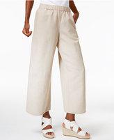 Eileen Fisher Linen-Blend Pull-On Wide-Leg Pants
