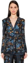 Alberta Ferretti Floral Printed Silk Twill Jacket