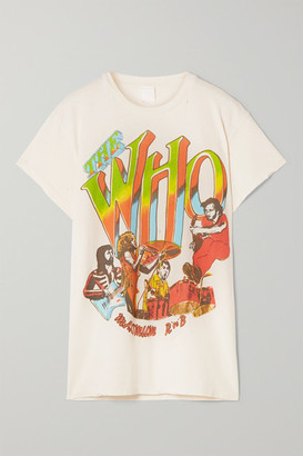 MadeWorn The Who Distressed Printed Cotton-jersey T-shirt - White