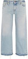 Simon Miller W005 Grants Cropped Frayed Wide-leg Jeans - Light denim