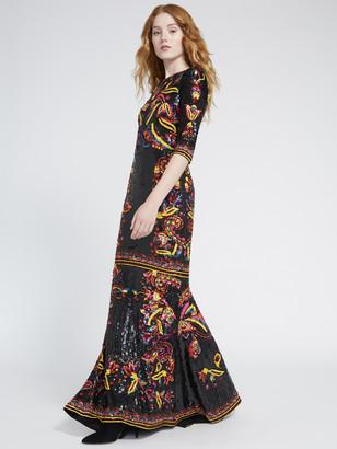 Alice + Olivia Jae Sequin Gown
