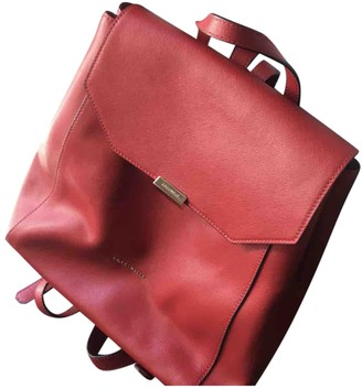 Coccinelle Red Leather Backpacks