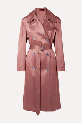Sies Marjan Sigourney Satin-twill Trench Coat - Antique rose