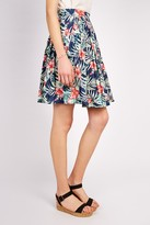 Louche Furie Tropical Print Midi Skirt