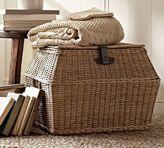 Pottery Barn Jacquelyne Angled Lidded Basket