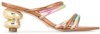 Vicenza Metallic-Effect Mule Sandals