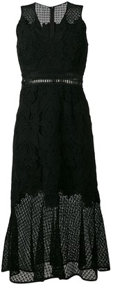 Jonathan Simkhai sleeveless lace trumpet dress
