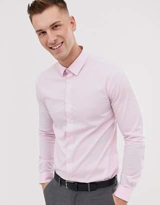 Celio slim fit smart shirt in pink