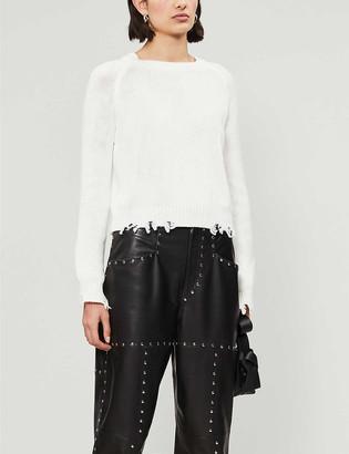 Pinko Lucerna distressed cotton-knit jumper