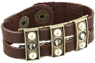 Leather Rock Stevie Bracelet (Walnut) Bracelet
