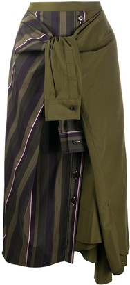 Marni Panelled Tie-Waist Skirt