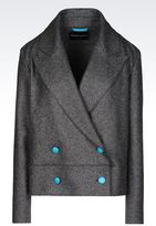 Emporio Armani Double-Breasted Jacket In Broadcloth
