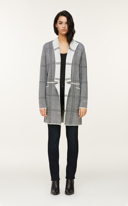 Soia & Kyo BENELA jacquard knit coatigan with patch pockets