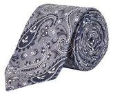 Burton Mens Grey Paisley Tie