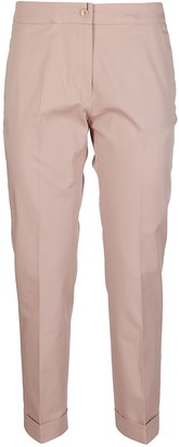 Etro Light Pink Stretch Cotton Trousers