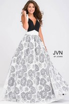 Jovani Floral A line Skirt Prom Dress JVN49641