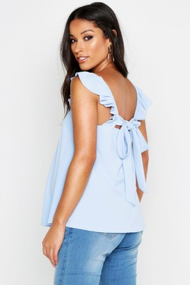 boohoo Maternity Frill Shoulder Back Detail Cami