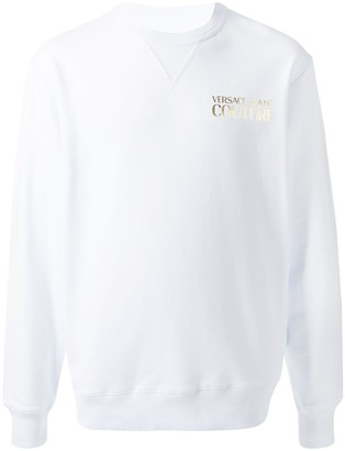 Versace Metallic Logo Print Sweatshirt