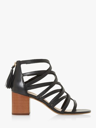 Dune Joanie Leather Strappy Caged Sandals