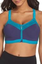 Wacoal Women's Zip Front Underwire Sports Bra
