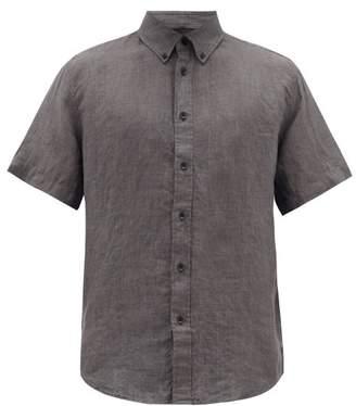 Rag & Bone Tomlin Linen-oxford Shirt - Mens - Grey