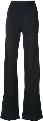 Rick Owens Flared Ribbed Trousers