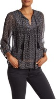 Joie Babah Printed Silk Blouse