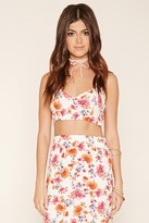Forever 21 FOREVER 21+ Floral Print Cropped Cami